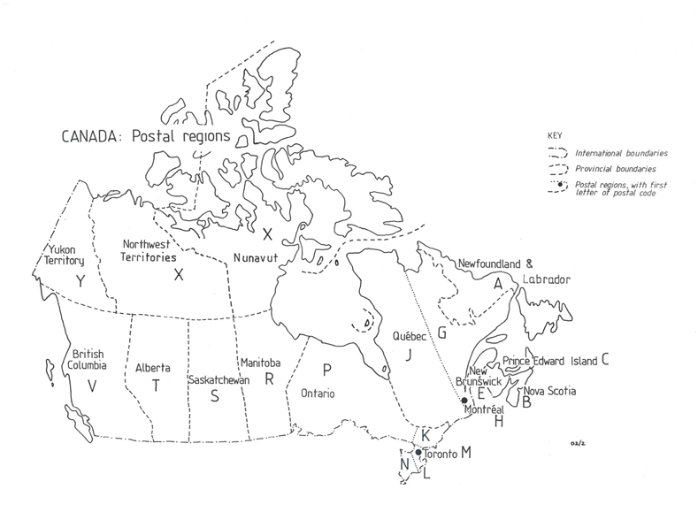 Canada postal code map car interior design for Code postal sedan
