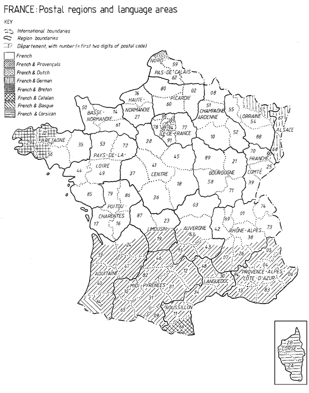 La Runion Department 974 - Map of France