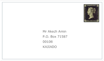 How to write a p o box address
