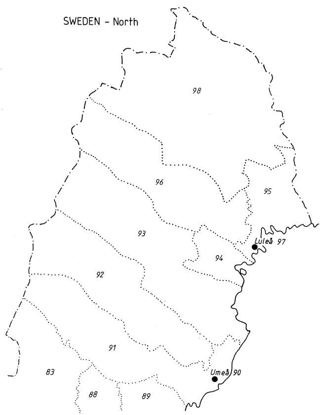 zip code sweden