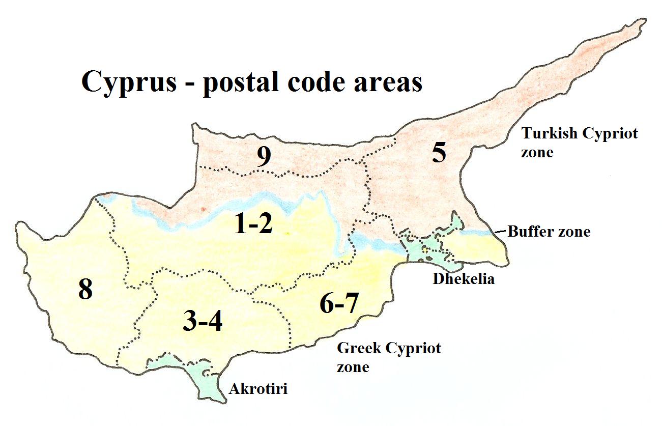 Global Sourcebook For International Data Management - Cyprus map png