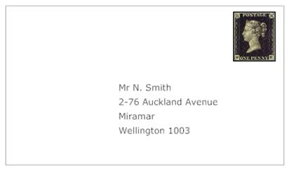 Address New Zealand Letter
