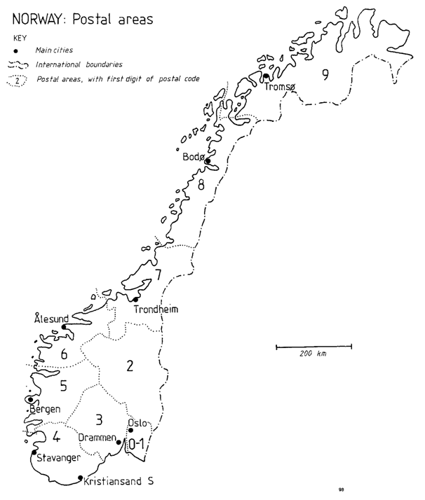 Global Sourcebook For International Data Management - Norway map counties