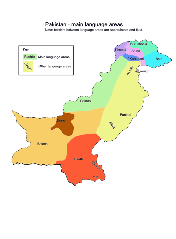 Global Sourcebook For International Data Management - Pakistan language map