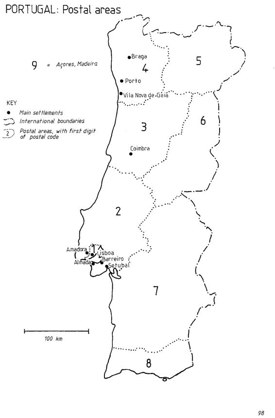 Global Sourcebook For International Data Management - Portugal map png