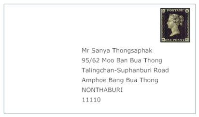 how to write address in thailand